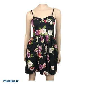 Band of Gypsies Women's Black Floral Bustier Dress